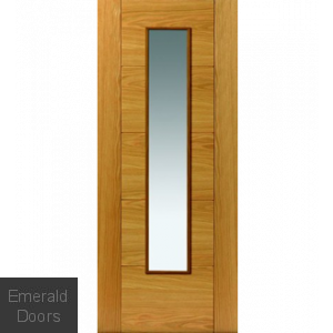 River Oak Emral 1L Glazed Fire Door