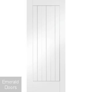 White Suffolk Fire Door