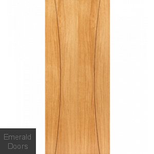 Contemporary Oak Arcos Fire Door