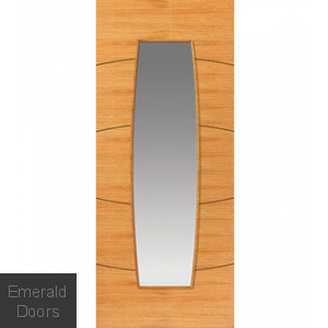 Contemporary Oak Sol Glazed Door