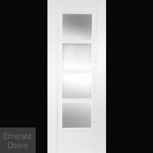 Contemporary 6500 White Fire Door