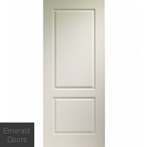 White Moulded Caprice 2 Panel Fire Door
