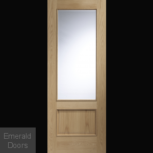 Andria Internal Oak Door with Clear Glass