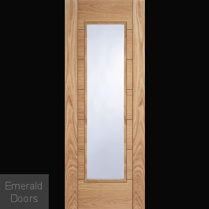 Corsica Oak 1 Light Glazed Fire Door
