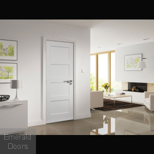Coventry White 4 Panel Fire Door