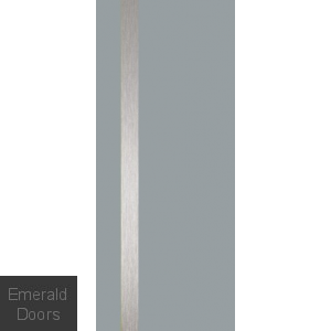Alu Gris Cendre High Gloss Fire Door