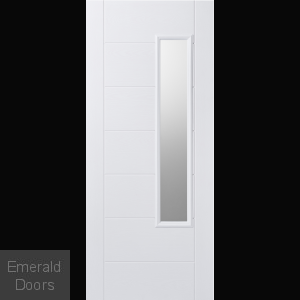 GRP Glazed Newbury White Composite External Door