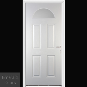 Gloucester White External Glazed Fire Doorset