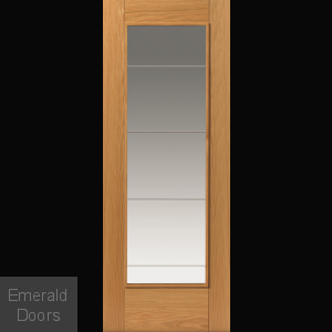 River Oak Medina Glazed Door