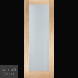 Mexicano Pattern 10 Oak Glazed Internal Door