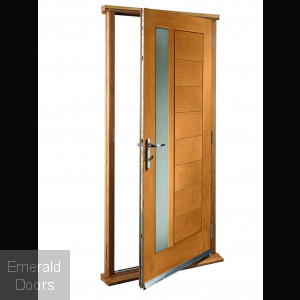 Modena Oak With Obscure Glass Doorset