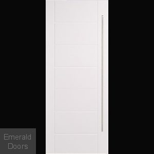GRP White Modica Contemporary Composite External Door