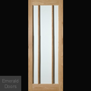 Norwich Oak Internal Clear Glazed Door