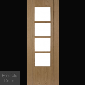 Vision Oak 4L Glazed Fire Door