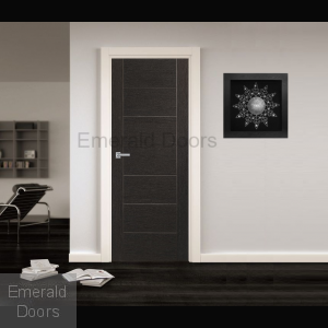 Dark Grey Palermo Fire Door In Roomset