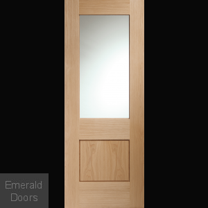 Piacenza Oak Door with Clear Glass