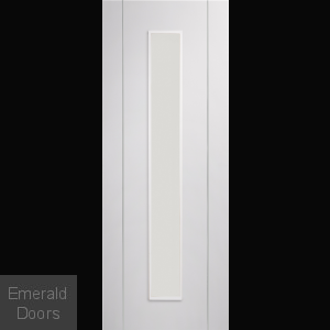 Forli White Door with Clear Glass