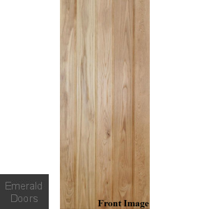 Solid Oak Button Bead Ledged Door