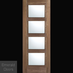 Contemporary Walnut Maya 4L Fire Door