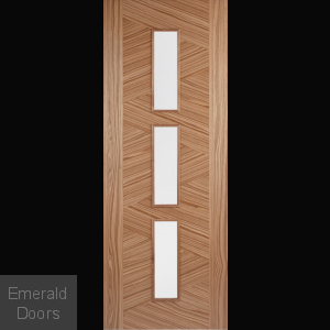 Walnut Zeus 3L Glazed Door Fully Finished