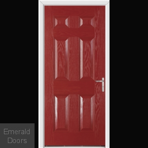 Warwick Red External Fire Doorset