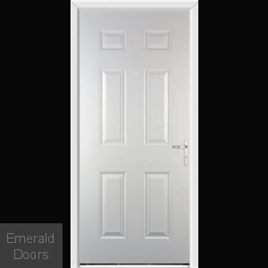 Warwick White External Fire Doorset