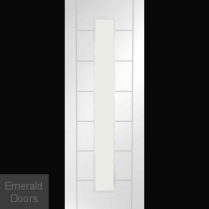 Palermo White 1L Clear Glazed Fire Door