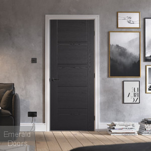 Black Ash Vancouver Laminate Internal Fire Door