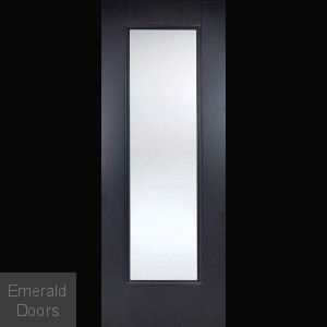 Eindhoven Clear Glazed Black Internal Door