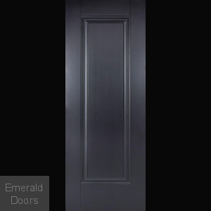Eindhoven 1 Panel Black Internal Fire Door