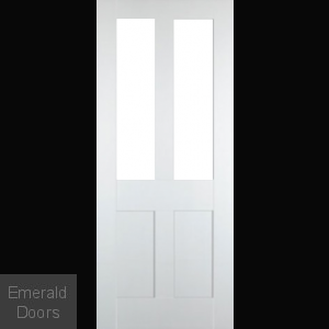 Bristol White 2L Clear Glazed Internal Door