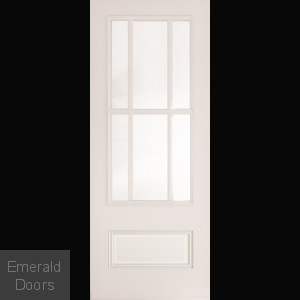 CANTERBURY WHITE PRIMED CLEAR GLAZED DOOR