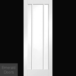 White Worcester Glazed Fire Door