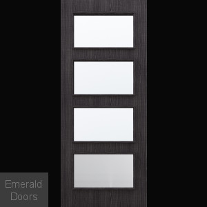 Custom Made Ash Dark Grey Flush Glazed Internal Door DGA4