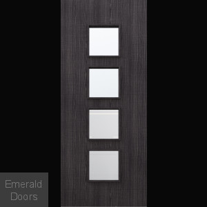 Custom Made Ash Dark Grey Flush Glazed Internal Door DGA9