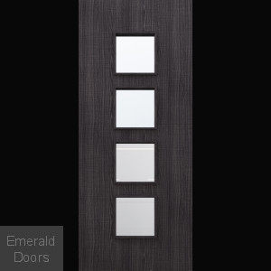 Custom Made Ash Dark Grey Flush Glazed Fire Door DGA9