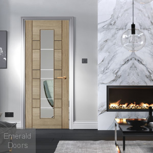Edmonton Light Grey 1L Glazed Internal Door