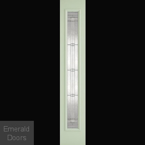 GRP Elegant Green and White Composite External Sidelight