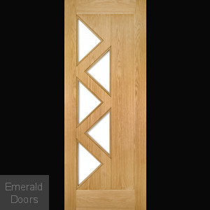 Ely Internal Door with Clear Glass Fully Finished