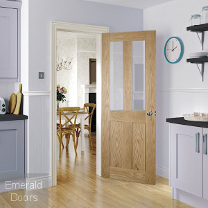 Eton Oak Internal Door Clear Glazed