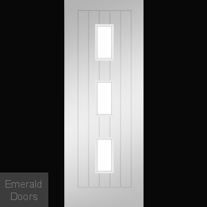 Ely White Unglazed Fire Rated Door