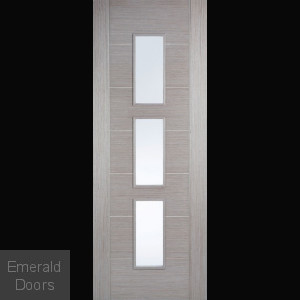 Hampshire Light Grey Clear Glazed Door