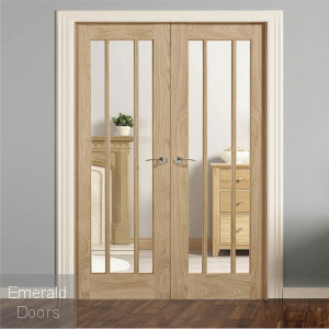 Lincoln Oak Room Divider W4
