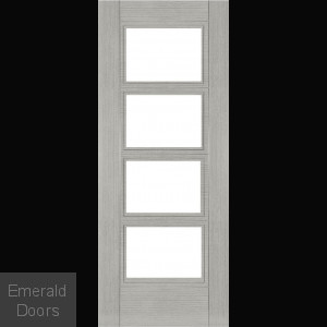 MONTREAL LIGHT ASH DOOR WITH CLEAR GLASS