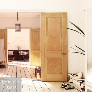 Kensington Internal Oak Door Fully Finished