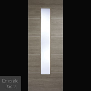 Santandor Light Grey Laminate Glazed Door