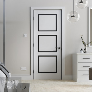 Luxemburg White and Black Fire Door