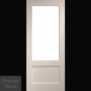 Madison glazed interior white primed door