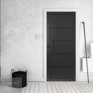 Metro Black 5P Industrial Style Door Fully Finished