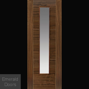 Mistral Walnut Glazed Door